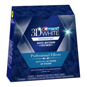 Crest 3D Whitestrips Professional Level Dental Whitening 5 treatments