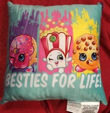 "Shopkins Pillows Teal Blue Super Soft Decorative Throw 12x12"" -Beasties For Life"