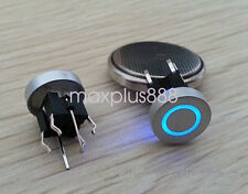 5pcs 6*6mm Blue Led Dia 10mm Cap Annulus 12V Momentary Tact Push Button Switch