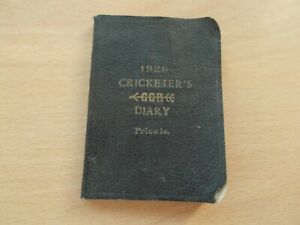 """A 1926 Mini CRICKETER'S DIARY - Unused - measures approx 2"""" x 3""""  VERY VERY RARE"""