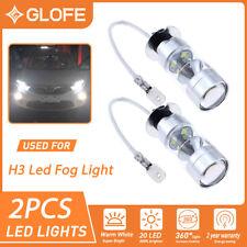 For Fog DRL Daytime Running Lights White Xenon Brightness 20-SMD H3 LED Bulbs 2x