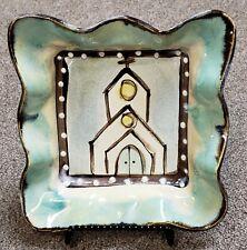 Church Dessert Dish Handmade & Hand Painted by MS Potter Kim Ries