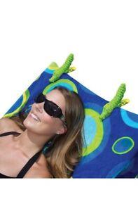 O2COOL Beach Towel Clips Alligator Shape Towel Holders Set of 2