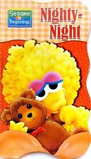 Sesame Street Beginnings BOARD BOOKS Baby Big Bird Cookie ELMO ~ Nighty Night