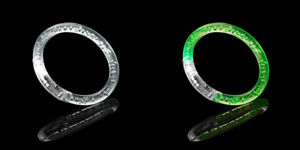 1 Green 1 White LED Light Up Flashing Bubble Bracelet Bangle Party Colourful