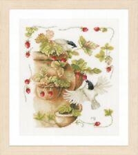 Strawberries & Birds - Marjolein Bastin/Lanarte Kit w/27 Ct. Evenweave