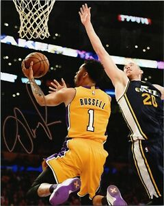 """~~ D'ANGELO RUSSELL Authentic Hand-Signed """"LA LAKERS"""" 8x10 Photo B ~~"""