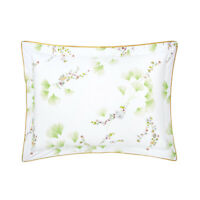 YVES DELORME | GINKGO PILLOWCASE PRINTED 100% COTTON PERCALE 40% OFF RRP