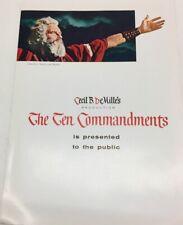 1956 THE TEN COMMANDMENTS PROMOTIONAL BROCHURE-MINT
