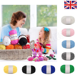 Baby Wool Soft DK Double Knitting Yarn Woolcraft Babycare 100g Balls Multicolor
