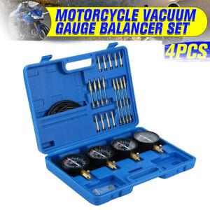 Motorcycle Carb Carburetor Vacuum Balancer Gauge Synchronizer 4 Cylinder Kit