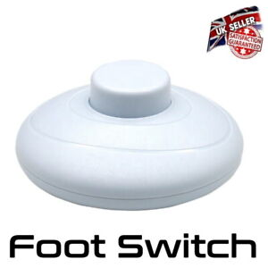 Floor Lamp Switch - Foot Switch For Lamp Or Light - White *UK Seller*