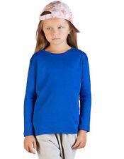 Vêtements T-shirt manches longues pour fille de 2 à 16 ans en 100% coton