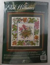 Elsa Williams Autumn Chickadees Counted Cross Stitch Picture Kit 14x14-Sealed