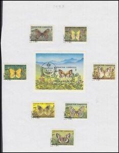 UZBEKISTAN 1995 BUTTERFLIES & MOTH SET & M/S (ID:R37949)