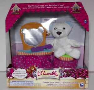 Li'l Luvables Stuff Your Bear and Furniture Too Plus 4 Outfits
