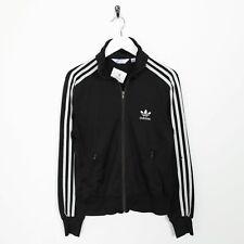 Vintage Women's ADIDAS ORIGINALS Zip Up Tracksuit Jacket Black Small s