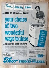 Original Print Ad  1950 THOR Spinner-Washer Vintage 1950s
