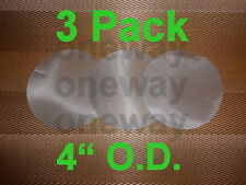 "3 Pack -  50 Micron Stainless Steel Mesh 4"" O.D Circle Round concentrate filter"
