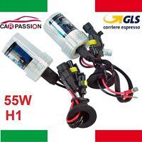 Coppia lampade bulbi kit XENO xenon H1 55w 6000k 12v lampadina luce HID ricambio