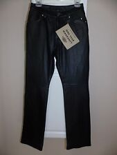 NEW Harley Davidson Black Juneau Leather Cordura Stretch Pants Womens 6 Waist 34