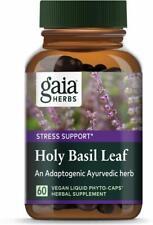 Holy Basil Leaf, Gaia Herbs, 60 capsule