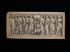 Ancienne Gravure  XVIII ème signée dans la planche frise de personnages antique