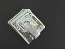 Vintage Dolan Bullock Money Clip Signed Solid 925 Sterling Silver Men Accessory