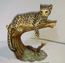 Vintage Homco Home Interiors 14045-03 'Leopards Domain' Porcelain Figurine