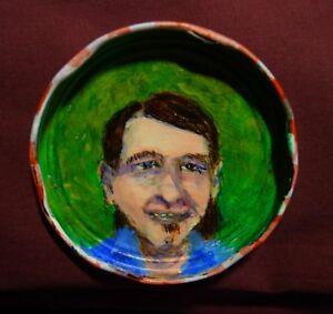 KENNY HOLLADAY, Jam Jar Lid Portrait,  New Orleans Blues, Outsider Art PETER ORR