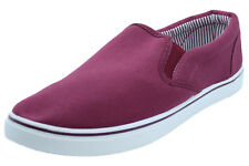 New Mens Canvas Shoes Slip On Casual Comfortable Deck Plimsoll Trainer Pumps