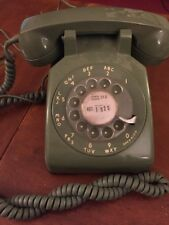 Vintage Bell System Rotary Dial Phone Avacado Green