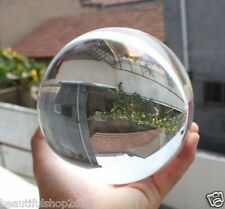 Asian Rare Natural Quartz Clear Magic Crystal Healing Ball Sphere 100mm + Stand.