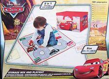 Aufbewahrungsbox u. Spielmatte 2in1 Spielzeugkiste Spielzeugbox Disney Cars NEU