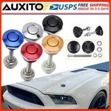 2push Button Quick Release Hood Bonnet Pins Lock Clip Car Bumper Latch Kit Hot