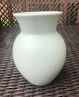 "Vintage Ceramic Vase Mint Green-Made In Portugal 7.25"" Height"