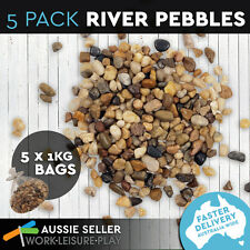 5 x 1kg Bag Garden Stones River Rock Pebbles Decor Indoor Outdoor Decoration
