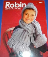 Robin Children's Hat Scarf Mittens Knitting Pattern 2948