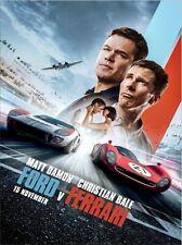 Ford vs Ferrari 13 x 18 inch Movie Poster-Free US Ship-Chevrolet, Pontiac
