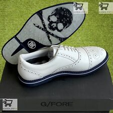 G/Fore Gfore Wingtip Golf Shoes Sneaker⛳️ US 12 ⛳️ Oxford White Blue Skull