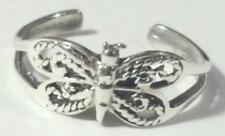 Butterfly Toe Ring Adjustable 925 Sterling Silver