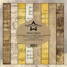 Dixi Craft Vintage Music Sheets 6 x 6 Background Patterned Paper Pad 24 Sheets