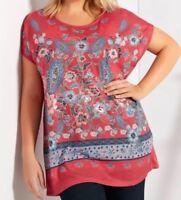 Plus Floral Paisley T-Shirt Size 24 RRP£26 Box75