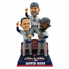 David Ross Chicago Cubs Tribute Triple Bobblehead World Series Rizzo Heyward NEW