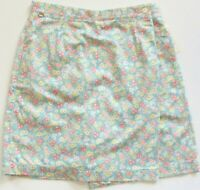 Lizgolf Springtime Swing Pastel Mini Floral Wrap Front Skort Size 10 NWT