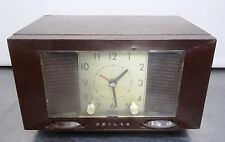 Baquelita tubos radio Philco weckradio tubos radio relojes radio EE. UU. ~ 50er