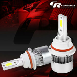 2 PCS 6000K 9007 WHITE LED HIGH/LOW BEAM HEADLIGHTS REPLACEMENT BULB+COOLING FAN
