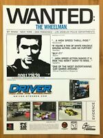 Driver PS1 PSX Playstation 1 1999 Vintage Print Ad/Poster Art Official Promo GTA