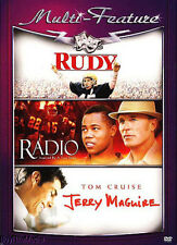 Rudy / Radio / Jerry Maguire (DVD, Triple Feature)