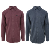 Obey Mens Numbers Slim Fit L/S Flannel Shirt (Retail $90)